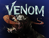 Vector art: Venom (Low Poly)