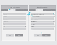 Wireframes for forms