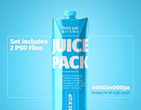 Tetra Pak. Prisma Pack (1L) Mockup