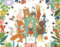 Friends in fantasy forest