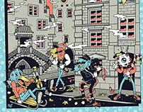 LES ROCKEURS ONT DU COEUR x Poster