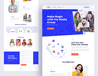VIX Digital Agency Landing Page