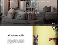 Interior decoration services website