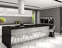 Black&White&Gray - Kitchen design in Sweden