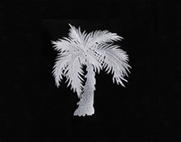 EERIE PALM TREE EMBROIDERY DESIGN