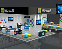MICROSOFT Exhibition Stand made in 3D MAX 2016 + VRAY