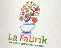 Création logo food truck La Fabrik. loolye labat