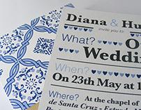 Portuguese Tile / Wedding Invitation