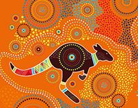 Illustration in aboriginal art style