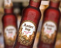 Разработка дизайна упаковки для пива Amber Hop