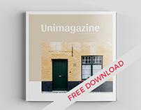 Freebie Square Magazine Mockup - Psd