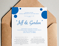 "Artists Lecture Series ""Jeff & Gordon"" Invitation cards"