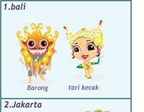 indonesian provincies touristm icon