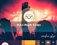 Розробка логотипу для музичної групи MAXIMUMBAND