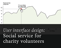 Social service for charity volunteers