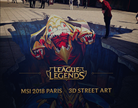 League Of Legends MSI Paris 2018 Street Art