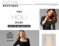 Gioia Boutique Email Marketing