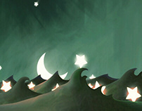 Illustrations for an imagination-evoking board game