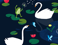 Frogs & Swans - Continuous Pattern