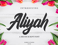 FREE | Aliyah Brush Script