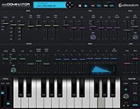 UI design Redominator (Polyphonic Synthesizer) iPad Air