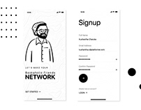 Simple Mobile App Signup Sccreen UI Design