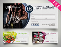 Free Gift Certificate IN PSD
