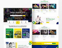 Brazilian Zouk Dance Directory Landing Page Design