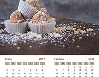 Calendario 2017. Fotografía de producto y diseño.