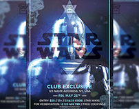 Star Wars Night - Club A5 Flyer Template