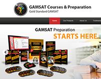 Gold Standard GAMSAT Website Design Concept
