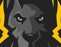 Doberman Mascot logo.