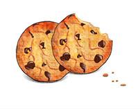 Chocolate chip cookies Illustration