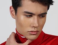 Male beauty retouch