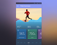 Dashboard for fitness App