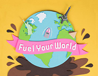 """Fuel Your World"" Dunkin Donuts Poster"