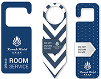 #hotel #door #label #tag #design