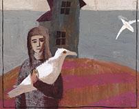 Five melancholy images. Illustration