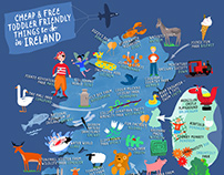 Map of toddler-friendly things to do in Ireland.