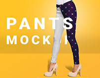Woman's pants mockup set
