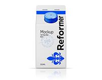 Mockup carton TETRA PAK REX 500ML