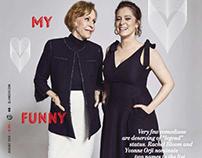 Carol Burnett and Rachel Bloom for GLAMOUR USA