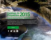 Micrositio CATÁLOGO DE PROYECTOS - Enami EP