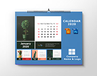 Desk Calendar Design and Mockup