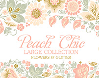 Glitter Floral Peach chic collection.