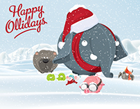 Happy Hollidays illustration