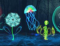 Light Graffiti Glowing plants