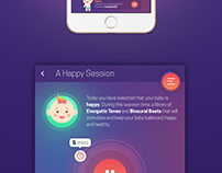 VisVibeBaby App Design - Binaural Beats for Babies