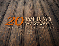 20 Wood Backgrounds - VOL.1 - $5