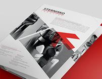 Design of product brochure for STERNISKO INDUSTRY